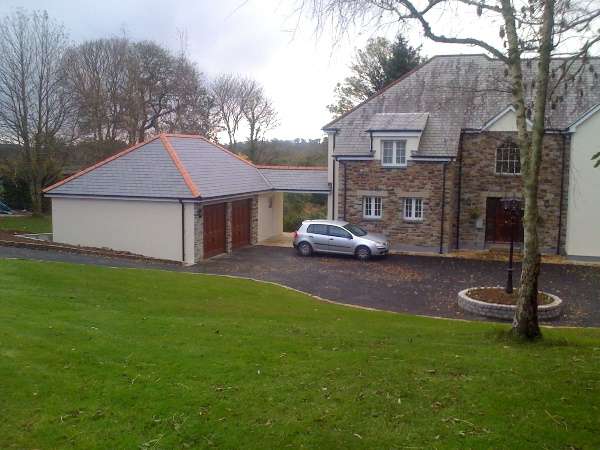 in2build builders in cornwall double garage and workshop
